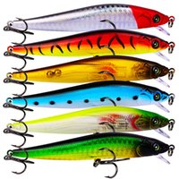 Nuovo realistico di plastica Bass fishing lure 6 colori 10.5 cm 9.5 g Minnow Swimbaits esche Wobbler esche Da Pesca artificiali