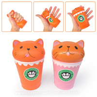 Cappuccino Squishies Toy Cat In Coffee Cup Kawaii Squishy Ju...