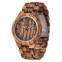 Homens mulheres relógios unissex relógio minimalista Minimalismo Homens relógio de madeira redondo Quartz cor preta Sândalo top fashion