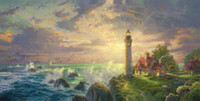 The Guiding Light Thomas Kinkade HD Canvas Print Living Room...
