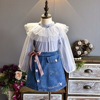 Fashion Autumn new Boutique Girls Outfits sweet lace Girls T...