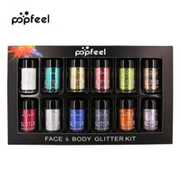 2018 popfeel Glitter Cosmetic Maquillage Eyeshadow Shining 12 Piece / Set Makeup Eye Glitter
