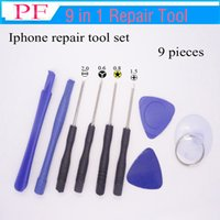 9 in 1 Mobile Phone Repairing Tool Kit Spudger Pry Opening T...