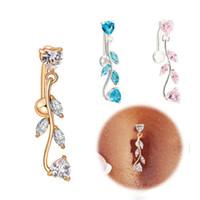 Europen laisse la forme des anneaux du ventre zircon sexy piercing au nombril sonne le corps des bijoux pour les femmes