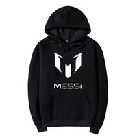 Messi Sweat-shirts Manteau noir unisexe Fan Messi Messi Sweat-shirt Veste Taille Plus S-2XL