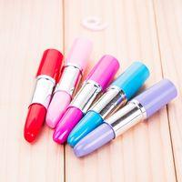Rouge à lèvres mignon Stylos à bille Kawaii bonbons Couleur en plastique stylo à bille Nouveauté article papeterie 5 couleurs Gratuit DHL