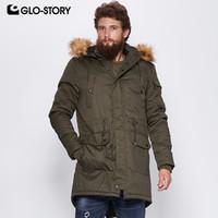 GLO-STORY 2018 Winter Trenchcoat mit Pelz Kapuze Taschen Kordelzug Taille  Windjacke Lange Jacken Für e215877125