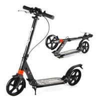 Новый arrivaled город мода два колеса скутер взрослый складной дизайн портативный скутер 3 регулируемые шестерни черный белый подшипник 120 кг