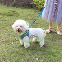 Dog Outerwear Umbrella Clear Raincoat Apparel Clothes Water ...