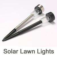 الأنوار الشمسية في الهواء الطلق للطاقة الشمسية حديقة الأنوار الفولاذ المقاوم للصدأ الصمام أضواء المسار الشمسية ، إضاءة المشهد في الهواء الطلق للحديقة / الباحة / الفناء / وول