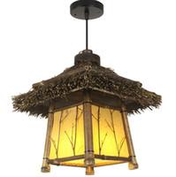 Бесплатный Фрахт бамбуковый сад китайский ресторан коридор подвесной светильник ретро Японский чайный домик клубный балкон подвесной светильник LLFA