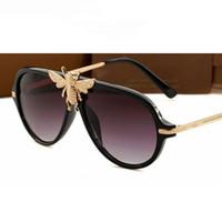 مصمم النحل الرجعية النظارات الشمسية الرجال النساء أزياء ظلال UV400 خمر العلامة التجارية نظارات Oculos 47809 مصمم النظارات الشمسية