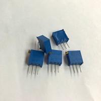 Frete grátis 3296X 503 50 K ohm lado regulador Multiturn Trimmer Potenciômetro Resistor de Alta Precisão Variável 50 pçs / lote