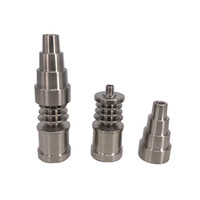 16mm / 20mm 6 in 1 Titanyum Tırnak Erkek ve Kadın GR2 Titanyum Tırnak Carb Cap için Dabber Aracı Slicone Kavanoz Dab Konteyner