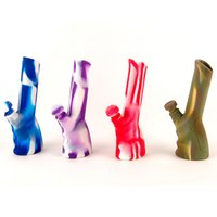 DHL Silicone Bong Colorful Silicone Dab Rig Water Pipes Sili...