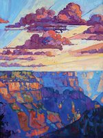 Artwork-The-north-rim-hexaptych-5-Unframed Самомоднейшее искусство стены холстины для украшения дома и офиса,картины маслом ,животных painatings ,рамки.