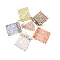 9 * 12 см 200 шт. розово-красное золото подарочные пакеты для ювелирных изделий / свадьба/Рождество / День Рождения пряжа сумка с ручками упаковка органзы сумки