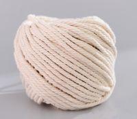3 mm / 4 mm / 5 mm cuerda de cordón de algodón natural, bricolaje cordón de macramé colgante de la planta artesanía haciendo tejer cuerda decoración del hogar