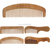 Щетка для волос персикового дерева расчески статический естественный массаж расческа Расческа здравоохранения # Y207E # горячая продажа