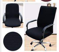 단일 색상 색상 대형 탄성 컴퓨터 의자는 팔걸이없이 거실을 커버 사무실 스트레칭 꽉 포장지 좌석 케이스 홈 장식