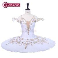 Blanc adulte scène professionnelle Tutu de ballet The Swan Lake Compétition Concours Costumes Femmes Danse de Ballet Apperal Enfants Ballet Jupe