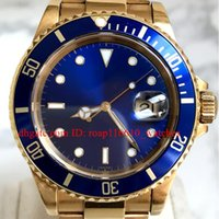 Alta calidad Watcshes azul cerámica bisel 40MM azul Dial 116613 18K oro inoxidable mecánica mecánica automática Mens Watche