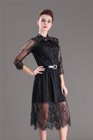S-5xl Sommerkleider Aushöhlen Frauen Halbe Hülse Elastische Taille Floral Crochet Casual Schwarz Spitzenkleid Weibliche Vestidos Heißer Verkauf