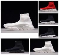 2018 Hot Sales Chaussette De Course Chaussures hommes hommes Noir Blanc Rouge Vitesse Trainer Baskets Sport Bottes Haut Casual chaussures mens