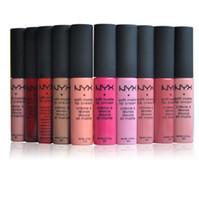 NYX Hot Lipgloss Matte Batons de Longa Duração NYX Lipgloss 12 Cores À Prova D 'Água Lip Gloss Marca Maquiagem Brilhante