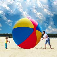 Бесплатная доставка бассейн играть партия воды Игры воздушные шары пляж Спорт мяч дети забавные игрушки цветные надувные 2 м мяч шары