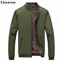 Liseaven jaquetas dos homens suporte sólido colar moda casacos masculino casual jaqueta bomber homens casaco outwear homens casaco