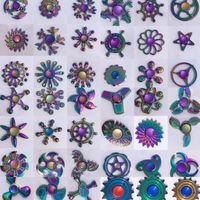 Regenbogen Metall Zappeln Spinner Stern Blume Schädel Drachen Flügel Hand Spinner für Autismus ADHS Kinder Erwachsene antistres Spielzeug EDC Zappeln Spielzeug