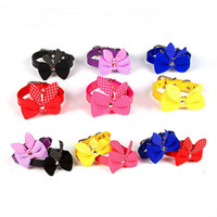 Knit Bowknot Adjustable Leather Dog Puppy Pet Collars Neckla...