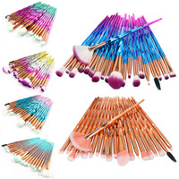 20pcs Eye Shadow Makeup Brushes Set Diamond Cosmetic Beauty ...
