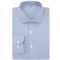 Мужские платья рубашки Macrosea Прибытие Умный повседневный полосатый бизнес Мужской поворотный воротник Социальная рубашка мягкие мужчины QS