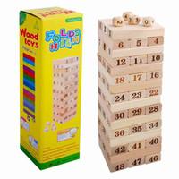 Kinder Holz 48 STÜCKE Ziffern Blöcke Gestapelt Schichten Bausteine Lernspielzeug Für Kinder Geschenk 0-3 Jahre Alt Mädchen Jungen Geschenk