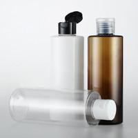 20 قطعة / الوحدة 250 ملليلتر الأبيض شامبو زجاجة بلاستيكية ، غطاء الوجه ، حاوية كريم فارغة ، زجاجة محلول إعادة الملء ، PET جرة انقر الأعلى