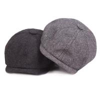 2018 موضة جديدة الساخن الرجل المحترم مثمن كاب موزع الصحف القبعات قبعة الخريف والشتاء للرجال ونماذج من الذكور قبعات شقة