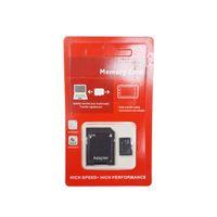 100% echte echte volle Kapazität 2 GB 4GB 8GB 16GB 32GB 64GB Klasse 10 TF Flash-Speicher SD-Karte mit SD-Adapter im rotgenerischen Einzelhandelspaket