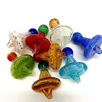 35mm OD Universal farbige glas UFO carb kappe kuppel für Quarz banger Nägel glas wasserleitungen, tupfen ölplattformen glasbong kostenloser versand