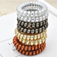 Vintage Punk Metallic Luster Translucent Phone Cord Hair Rub...