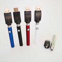 O 510 스레드 배터리 예열 vape 펜 350mAh 기화기 가변 전압 USB 충전기 카트리지 배터리 10 색 케이스 포장 상자