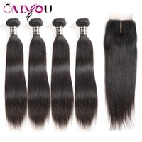 Hot Raw Indian Virgin Hair Straight Human Hair Weave Bundles...