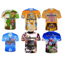 Venta al por mayor Iron Maiden T Shirt Hot Men Women T-shirt Rock Band 3D camisetas Moda Streetwear T-shirt Skull camiseta S-5XL 12 Estilos