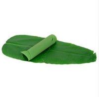 """2 adet 24.4 """"x 10.6"""" Yapay Bitki Yaprakları Muz yaprağı Tropikal Yapraklar Süslemeleri Luau Safari Parti Malzemeleri"""