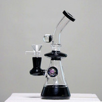 Thick Black Glass Water Pipe bongs with a UV Ball Special De...