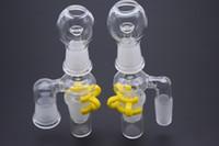 Стекло масло Reclaimer комплект стекло выпадающий адаптер 14,5 мм 18,8 мм мужской женский совместное стекло Reclaimer с куполом ногтей и Кек клип