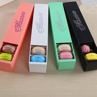 NIEDRIGER PREIS!!! 200 teile / los hause macaron schwarz weiß rosa grün macaron box keks Muffin box Kostenloser Versand