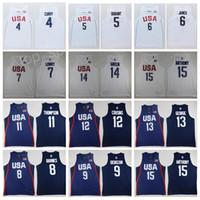 Herren 2016 USA Jersey Dream Team Basketball 4 Jimmy Butler 5 Kevin Durant 6 LeBron James 10 Kyrie Irving Paul George Carmelo Anthony