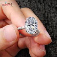 COLORFISH роскошные 5 карат овальной огранки пасьянс обручальное кольцо стерлингового серебра 925 кольца для женщин Большой Камень женский обручальные кольца S18101607